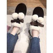 コットン靴 女 冬 新しいデザイン 何でも似合う 毛玉 厚底 パンの靴 厚さプラス 短い