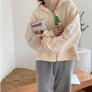 【NEW】フード付きジップアップパーカー★韓国ファッション★アウター★秋服★カジュアル★長袖