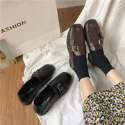 靴 女靴 春 新しいデザイン 何でも似合う 小さな靴 女性英国スタイル スクエアヘッド
