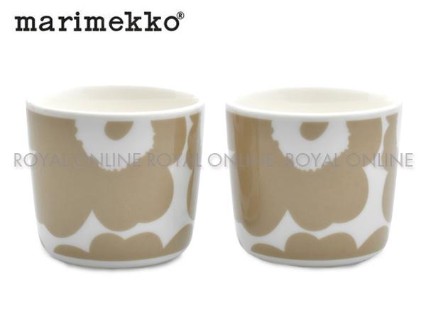 Y) 【マリメッコ】 70397 コーヒーカップセット COFFEE CUP 2DL 2PCS ウニッコホワイト/ベージュ