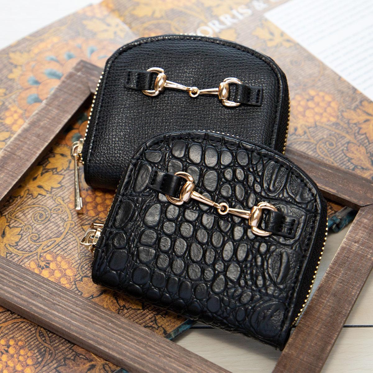 ビット金具 二つ折り財布 ラウンドミニ財布 [アガサ] / レディース バッグ