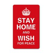 STAY HOME AND WISH FOR PEACE おうちにいよう L コロナウィルス対策 自粛 ステッカー GSJ092 2020新作