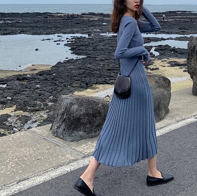 超人気新型★レディース ファッション★出掛け レディース ワンピース ニット