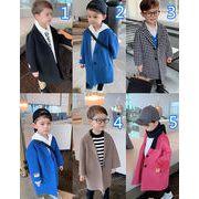 2021新品★キッズファッション♪ウールコート★子供コート★子供服★男の子★オシャレ♪5色90-140