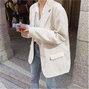 広く注目を集める 韓国ファッション スーツ コート 韓国 怠惰な風 イギリススタイル  トップス