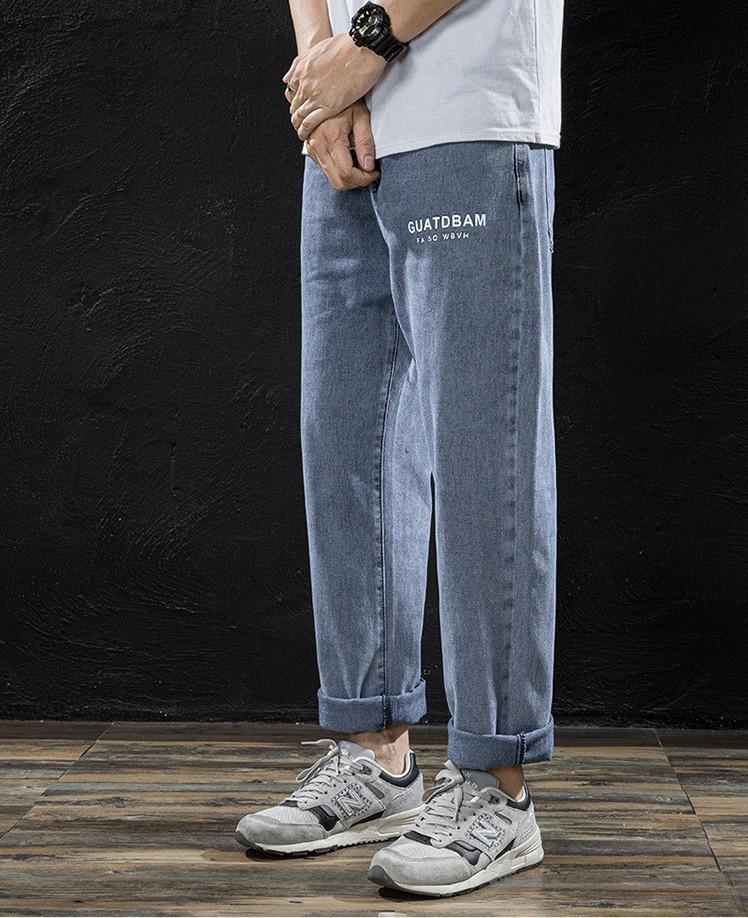 春夏 ズボン キャンパス ヴィンテージ加工 ゆったり ジーパン デニム 韓国ファッション メンズ ボトムス