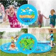 夏用品 子供用水スプレーパッド 裏庭ゲーム水スプレーパッド PVC犬用屋外遊びペット用品100cm