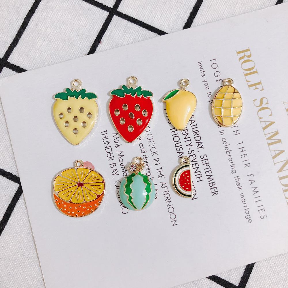 苺 イチゴ スイカ オレンジ マンゴー ハンドメイド フルーツ 果物 爽やか 夏物 アクセサリーパーツ 手芸