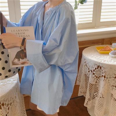 2021年春夏新作 レディース 韓国風 シャツ 長袖 ゆったりする 大好き ファッション 2色フリー