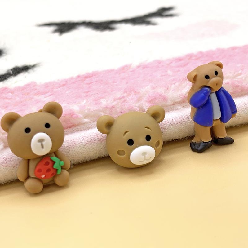 ★即日発送★熊 貼付けパーツ 樹脂パーツ アクセサリーパーツ アクリル デコパーツ ハンドメイド ピアス