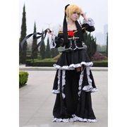 【LUGANO 】VOCALOID 鏡音レン IMITATION BLACK 風 衣装+ウイッグ・コスプレ衣装完全オーダーメイド
