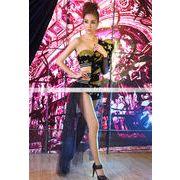 ステージ衣装 ゴールド×黒 星 ズボンと袖は網タイプ コスプレ 舞台 コスチューム ハロウィン 7613