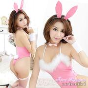4277  シッボ付可愛いバニーガール コスプレ衣装 ピンク/5