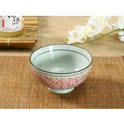 【強化】 4.5号茶碗(ピンク地白桜)   おうち料亭/茶碗/お茶漬け/ごはん茶碗/