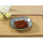 【強化】 5号丸口皿(青い花集い)    おうち料亭/和食器/取り皿