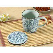【強化】 蓋付マグカップ(青い花集い)    コップ/カップ/和食器