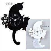 【新生活】【取寄品】ディアキャッツ[壁掛け時計]シルエットクロック/振り子式時計