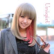【ユニガール】ピンクスプリットカラー☆ブロンディア『アッシュプラム』
