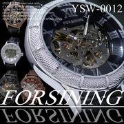 【ケース・保証書付】◆腕時計 自動巻 革バンド スケルトンタイプ◇YSW-0012