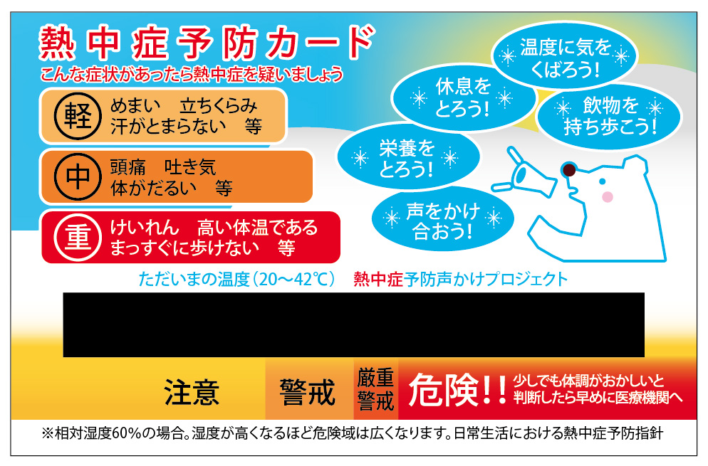 熱中症予防カード2015 100枚セット 平成27年5月5日発売 クラス最大の液晶温度計