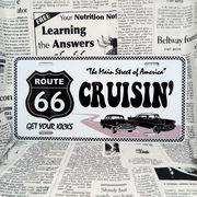 好きな文字にできるアメリカナンバープレート(大・US車用サイズ)ルート66ホワイト