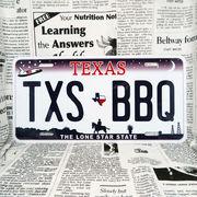 好きな文字にできるアメリカナンバープレート(大・US車用サイズ)テキサス