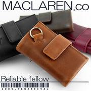 正規品【MACLAREN.co マクラーレン】ソフトレザー・マルチキーケース[全4色] MC-0604