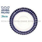 Y) 【アラビア】 トゥオキオ プレート フラット 26cm ブルー
