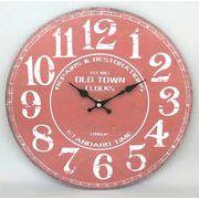 【お仕入れ12000円で送料無料♪♪】【ROUND WALL CLOCK】OLD TOWN