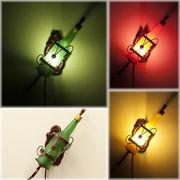 【SALE/値下げ】ヨーロピアンテースト★アトリエグラス ランプ ワインボトルLED電球付♪