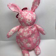 【桜柄】ウサギ エコバッグ再入荷しました。ピンク 収納型 ノベルティ残りわずかです。
