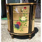 【特別仕様】チェスト 高級金箔家具 中国伝統家具 半円チェスト