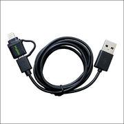 【1m】Lightning(MicroUSB変換)-USBケーブル/充電・転送用
