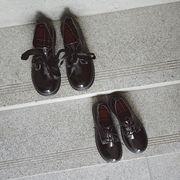韓国 ラウンド ひもあり マーティンの靴 女 日系 アンティーク調 学生 原宿 厚底 大