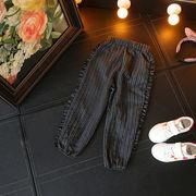 韓国風 男女 縦縞 秋 小中児童 ファッション カジュアルなズボン ハーレムパンツ