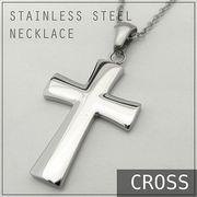 ステンレス ネックレス クロス 十字架 シルバー レディース メンズ アクセサリー