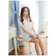 看護婦 ナース 制服 コスチューム コスプレ ハロウィン 仮装 衣装 2点セット XLサイズ bwn1084-6