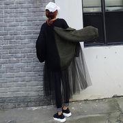 初回送料無料 2017 お洒落 切り替え セーター ニット ジャケット 大人気 Vxbbw-1710azb182 新作