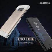 Galaxy S8 / S8 Plus ケース motomo INO LINE アルミ風 ヘアライン モダン シック カバー ギャラクシー