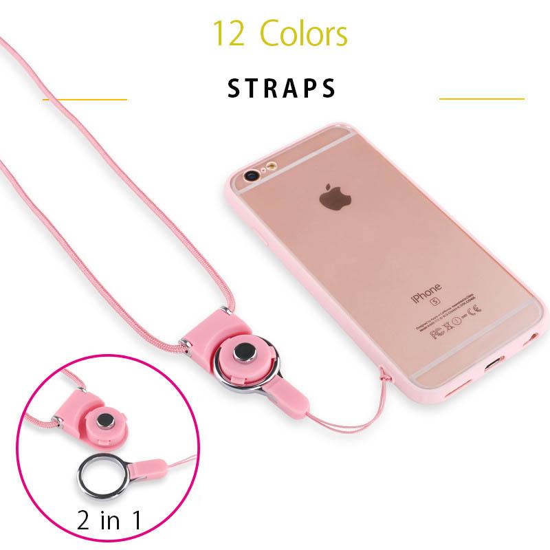 【一部即納】12色ワンタッチ着脱なネックストラップ/回転可能 指輪タイプ 分離式 安心 カラー豊富12色