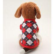 犬服 ペットチョッキ チェック 愛犬 ハロウィン ペット服