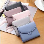 レディースファッション 財布 コインケース 二つ折り コンパクト 持運びラクラク シンプル 5色