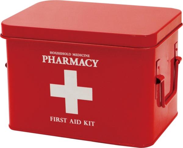 現代百貨 救急箱 ファーマシーボックス レッド
