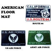 ☆アメリカンフロアーマット 【US AIR FORCE / ARMY AIR FORCE / ROUTE 66 】