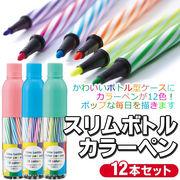 カラーペン セット 12本 ペン セット 子供 色ペン  スリムボトルカラーペン