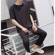 春夏新作メンズトップス(上下セット) Tシャツ ズボン2枚セット 大きいサイズ カジュアル