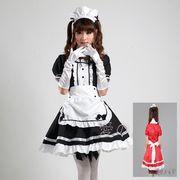 メイド服コスプレ4点セットウエイトレス服ハロウィンS~XL