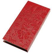 うるし紙 和紙一筆箋 赤