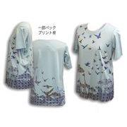 テンセル/綿 接触冷感プリントTシャツ ML/LL