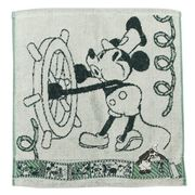 【ハンドタオル】ミッキーマウス ジャガードウォッシュタオル/スチームボートウィリー